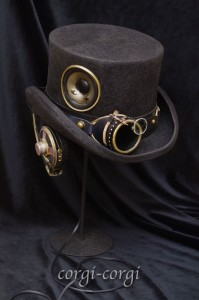 Steampunk Hat by corgi-corgi